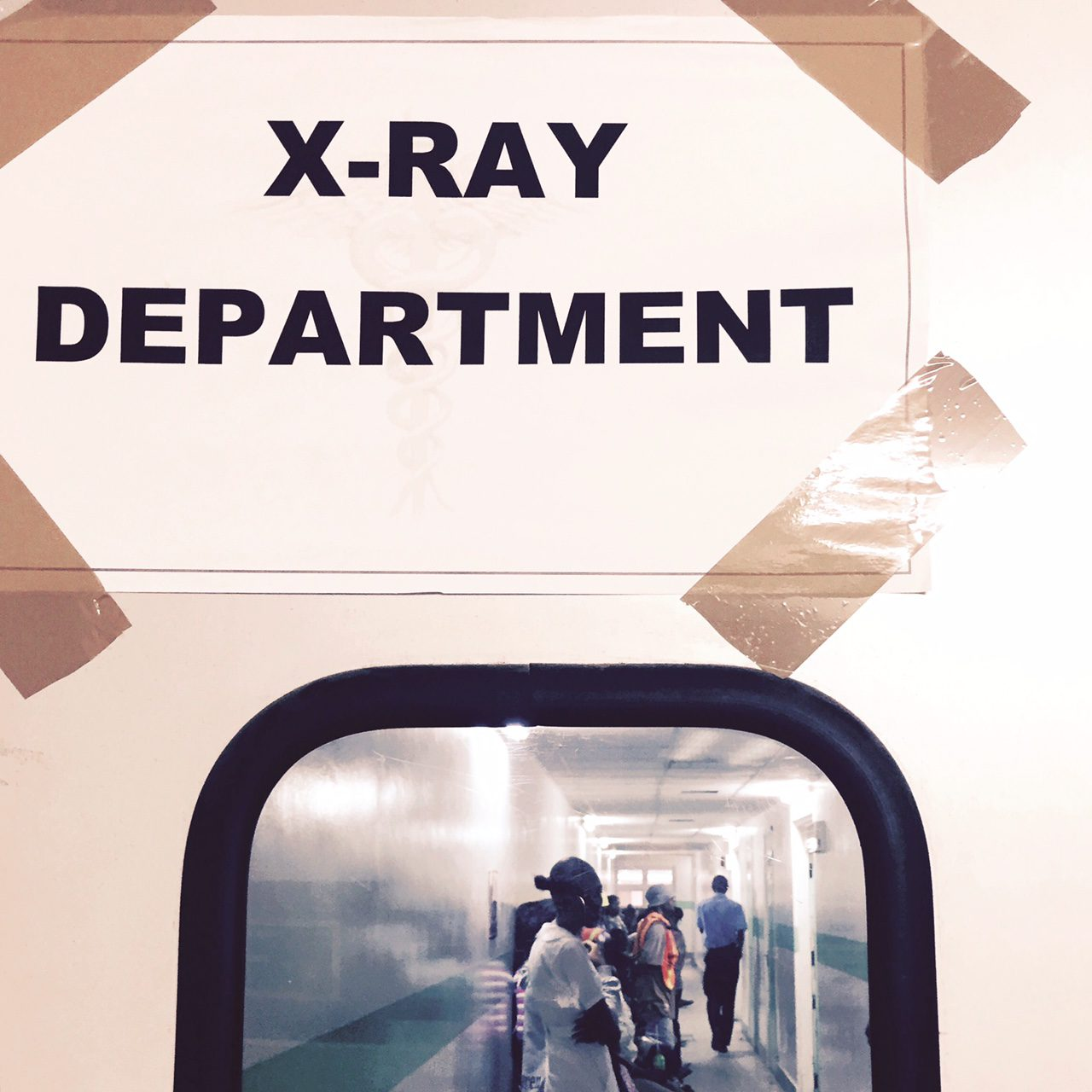 Entrance to the Radiology Department at GPHC, Guyana