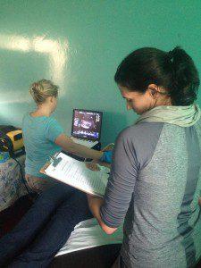 RAD-AID Nicaragua team working on ultrasound, 2015
